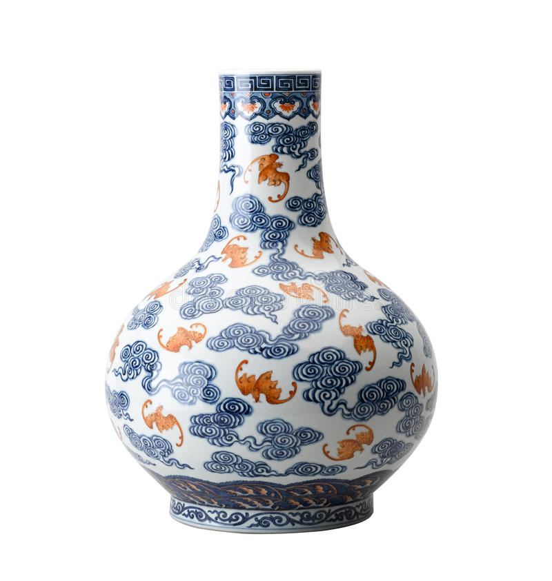 antik keramisk vase royaltyfria foton