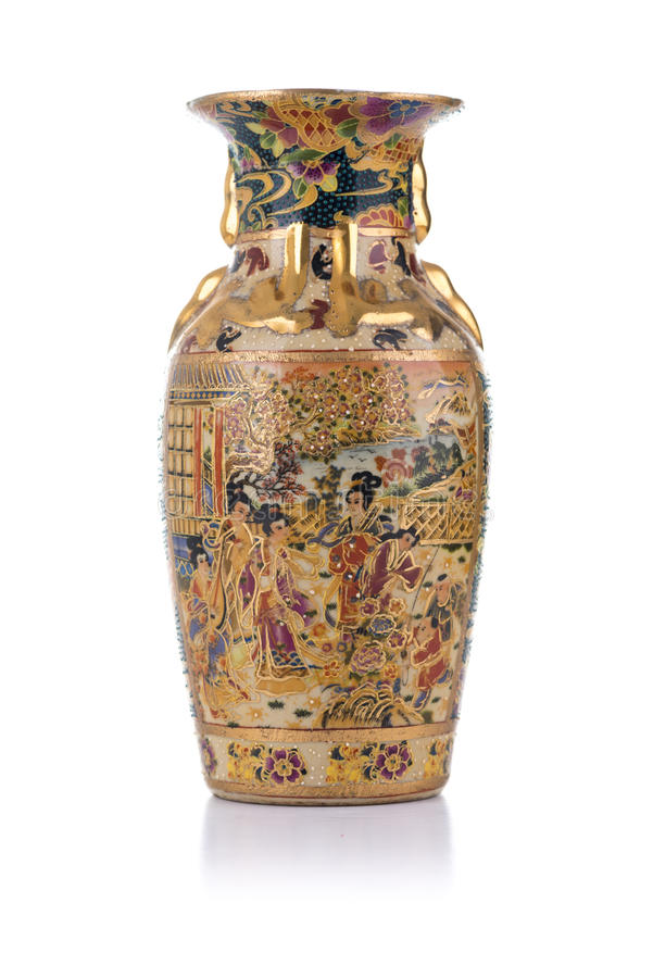 antik kinesisk porslinvase arkivbild