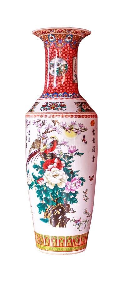 antik kinesisk vase arkivbild