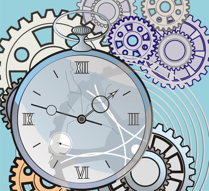 Download Antik Klockasprickaframsida Stock Illustrationer - Illustration av objekt, antikviteten: 19781264