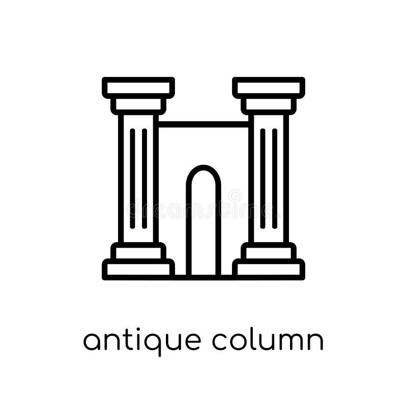antik kolonnsymbol från museumsamling royaltyfri illustrationer