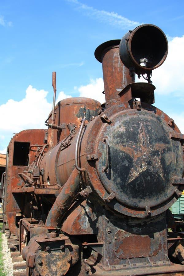 antik lokomotiv arkivfoto