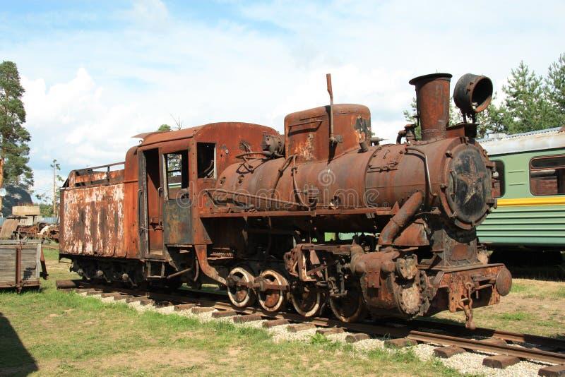 antik lokomotiv arkivbilder