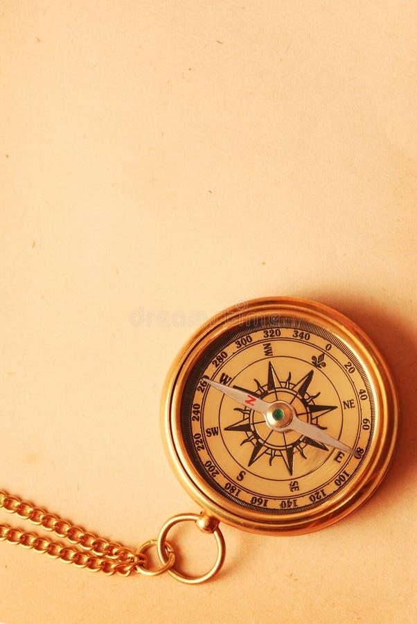 antik mässingskompass royaltyfri fotografi