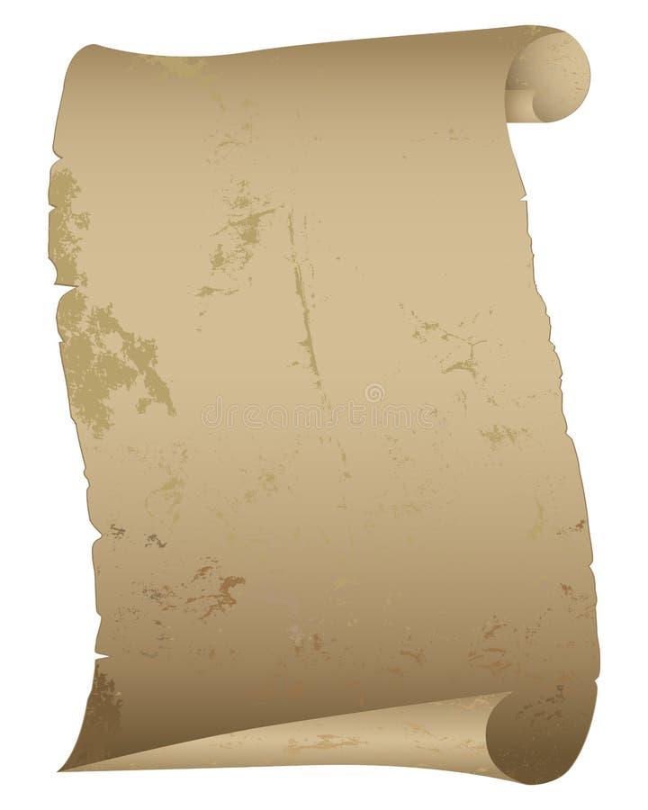 antik paper scroll vektor illustrationer