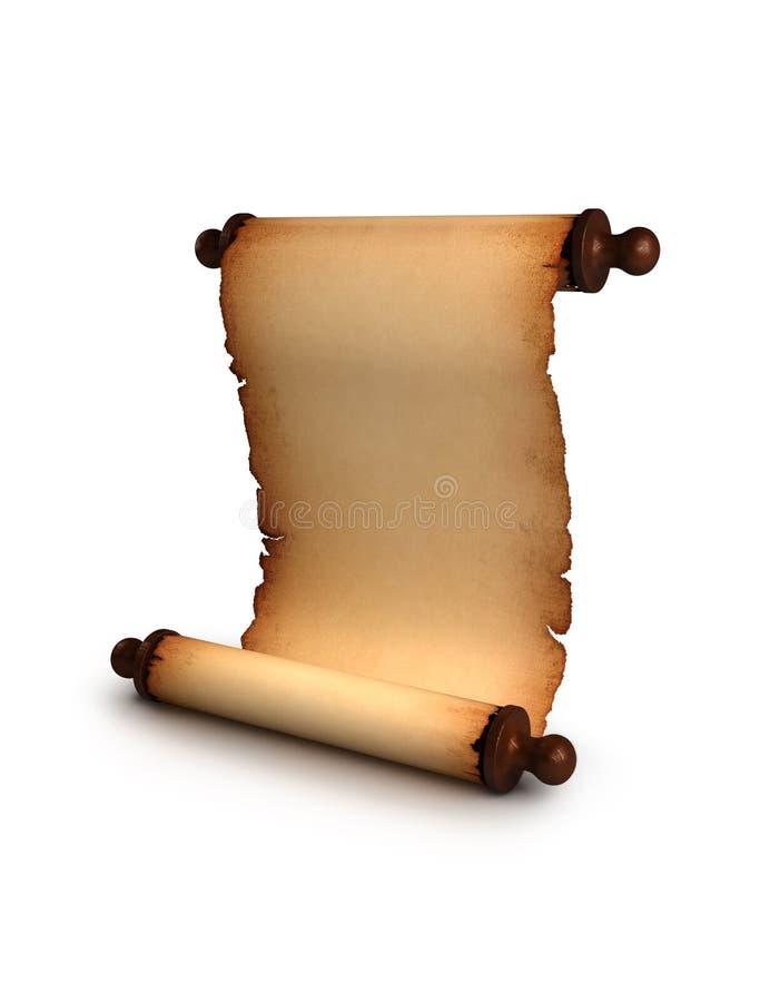 antik paper scroll arkivfoto