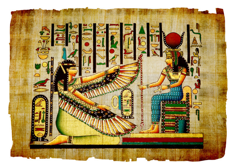 antik papyrus royaltyfri foto