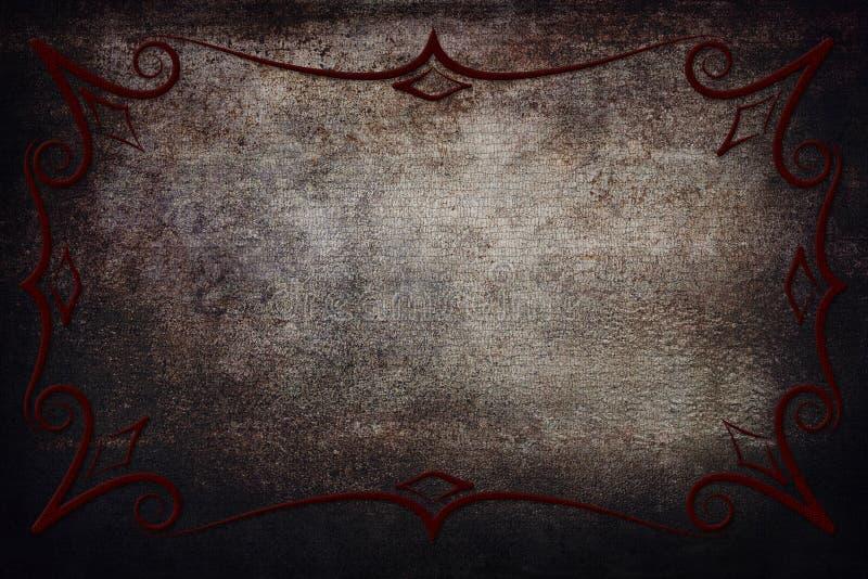 Antik ram på bakgrund med textur vektor illustrationer