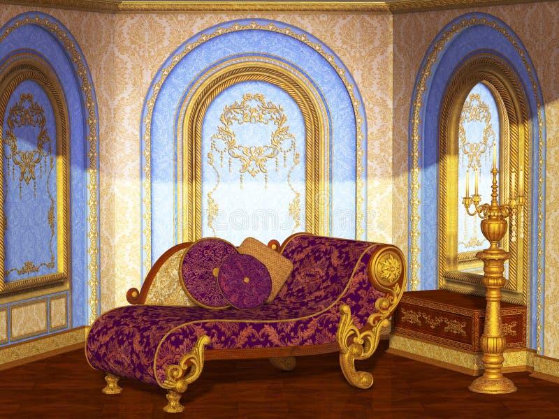Antik salong royaltyfri illustrationer