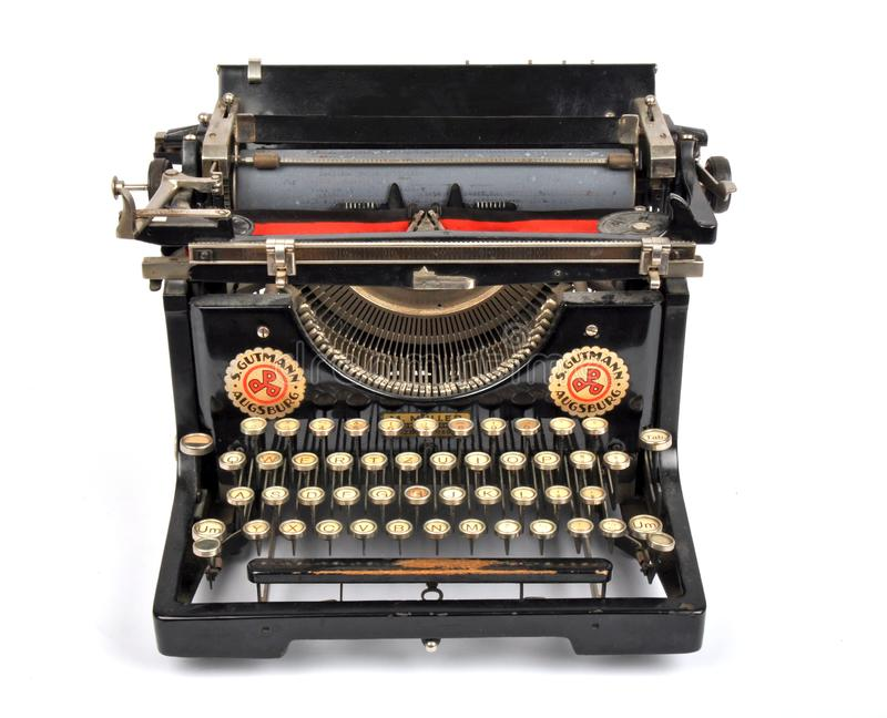 Antik skrivmaskin, isolerat objekt, isolerad antik skrivmaskin royaltyfri bild