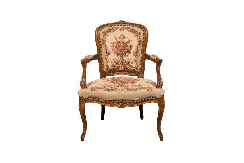 Antik stol arkivbild
