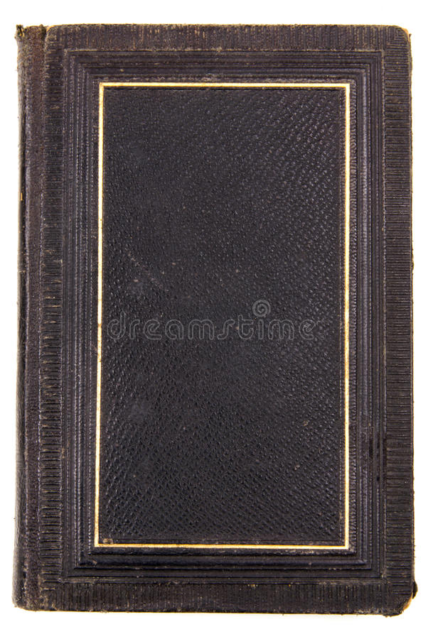 antik svart bok royaltyfria bilder