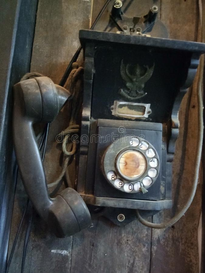 antik telefon fotografering för bildbyråer