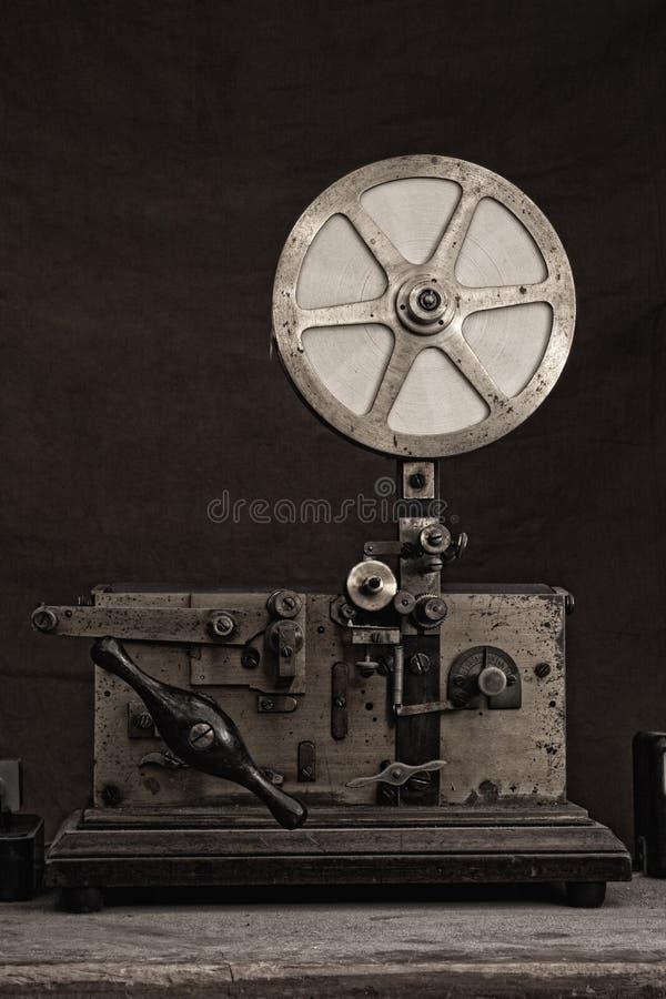 Antik telegrafmaskin fotografering för bildbyråer