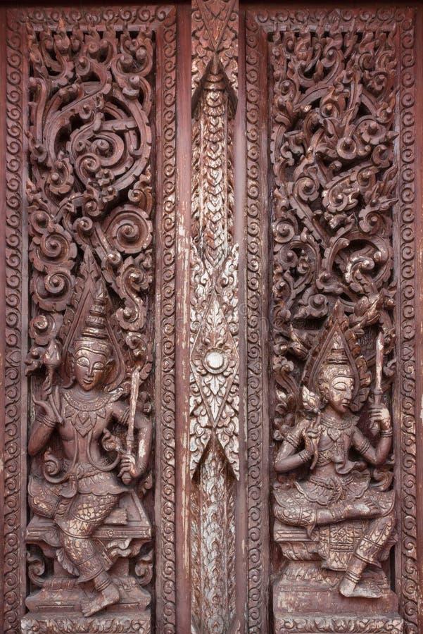 Antik thailändsk väggmålning royaltyfria bilder