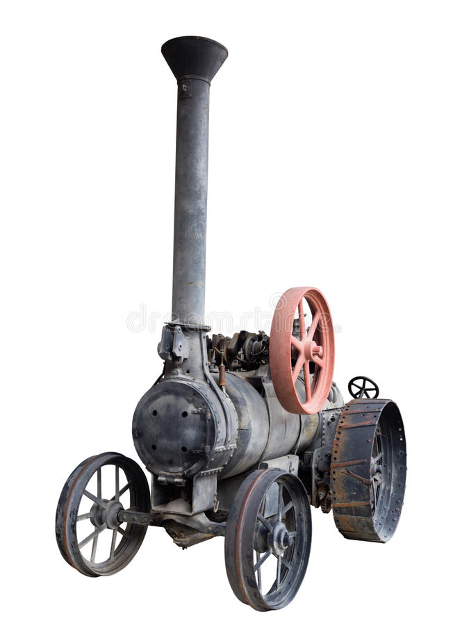 Antik traktor arkivbilder