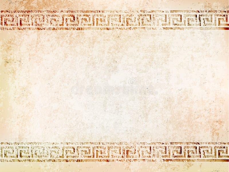 Antik vägg för bakgrund med sprickor också vektor för coreldrawillustration vektor illustrationer