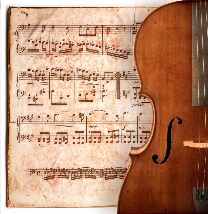 antik violoncell vektor illustrationer