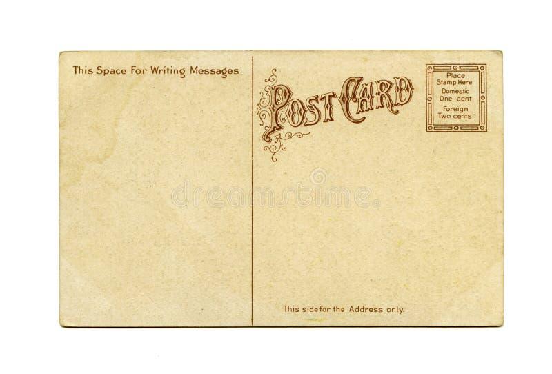 antik vykort arkivbild