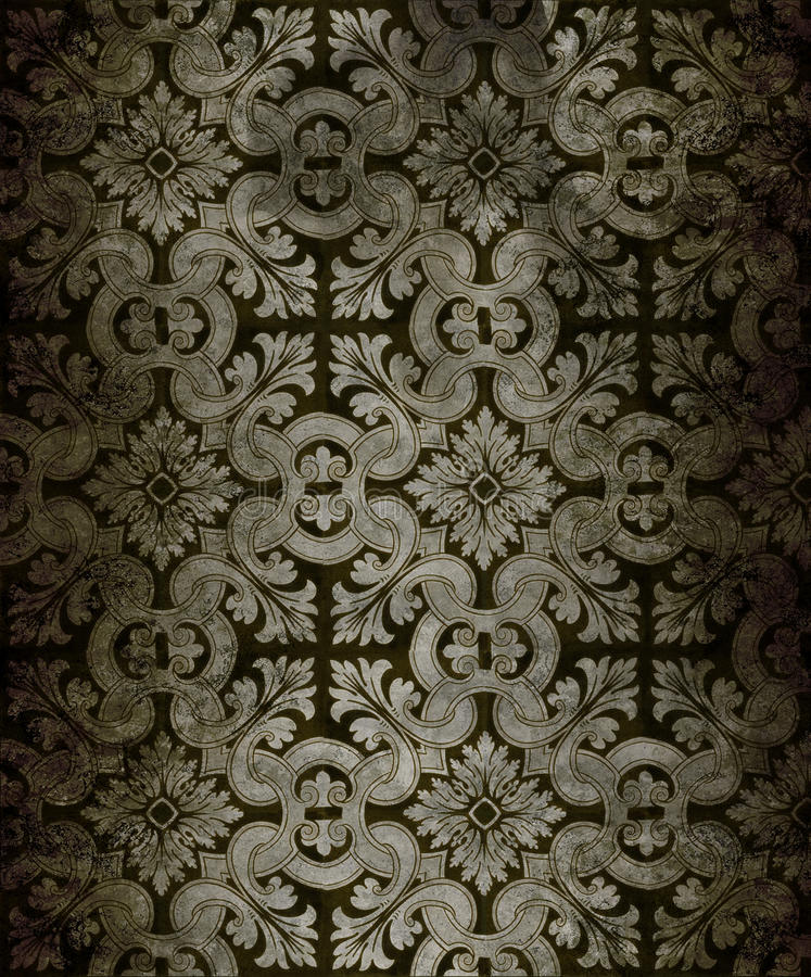 antik wallpaper vektor illustrationer