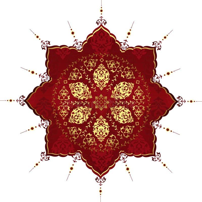 antik wallpaper för designillustrationottoman vektor illustrationer