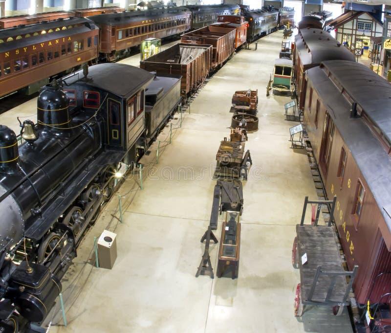 Antika drev av den Pennsylvania järnvägen arkivbild