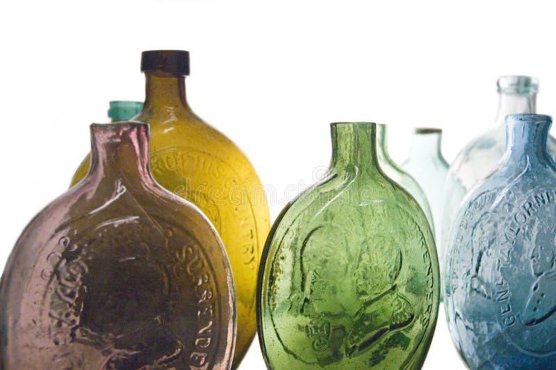 antika flaskor arkivfoto