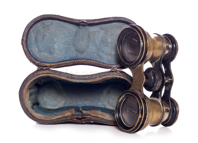 Antika operaexponeringsglas royaltyfria bilder