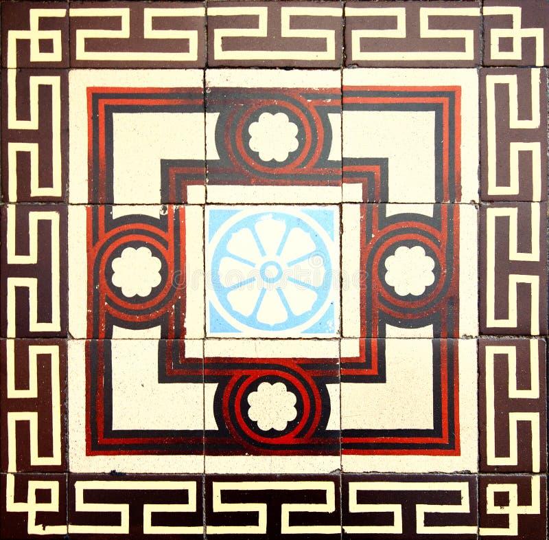 antika tegelplattor royaltyfri fotografi