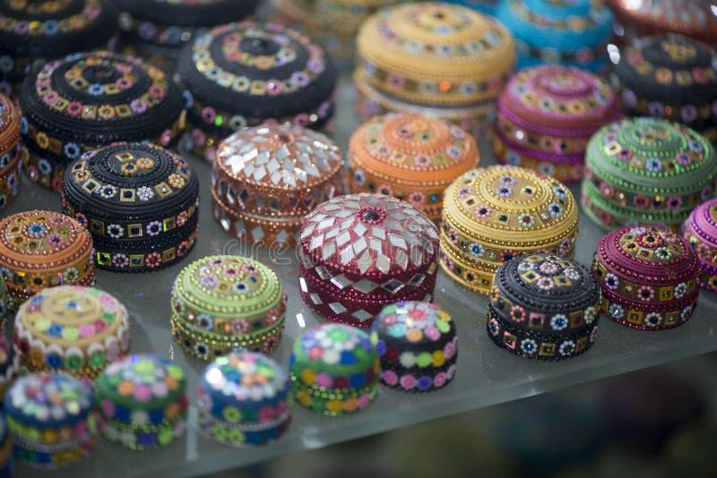 Antika tunisiska smyckencaskets arkivbild