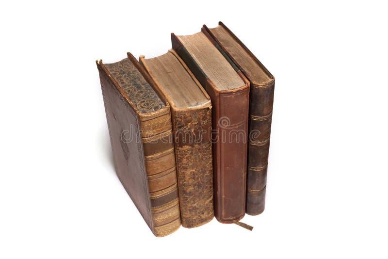 Antike alte Bücher stockbilder