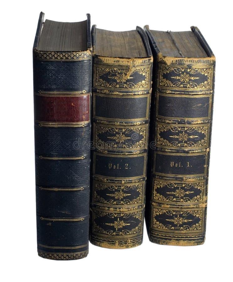 Antike Bücher stockbilder