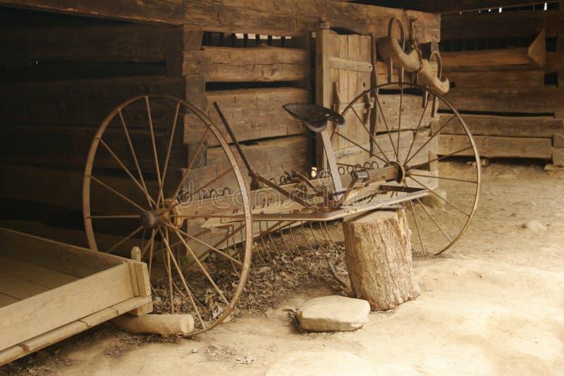 Antike Bauernhof-Hilfsmittel stockfoto