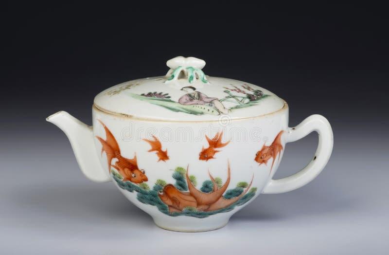 Antike chinesische Teekanne stockbilder