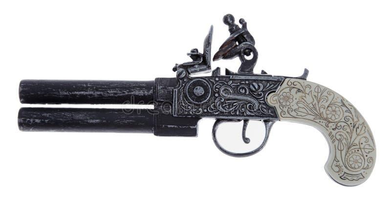 Antike Duellpistole lizenzfreie stockbilder