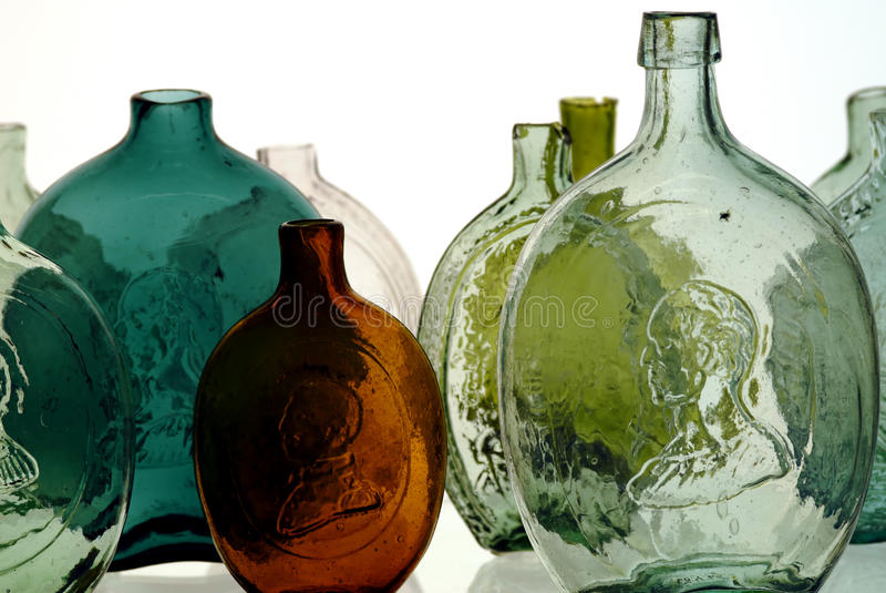 Antike Flaschen stockbild