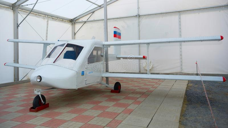 Antike Flugzeuge im Museum von Luftfahrt lizenzfreie stockfotos