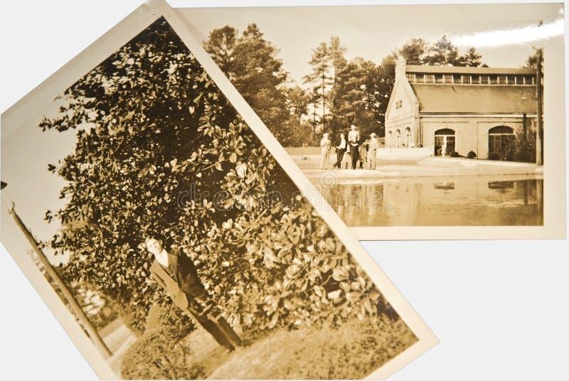 Antike Fotos/Herren stockbilder