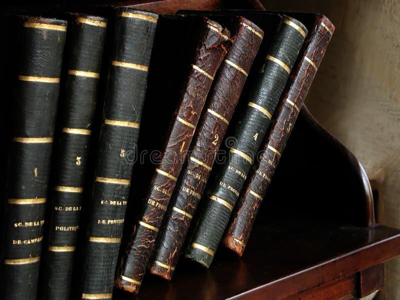 Antike französische Bücher lizenzfreies stockfoto