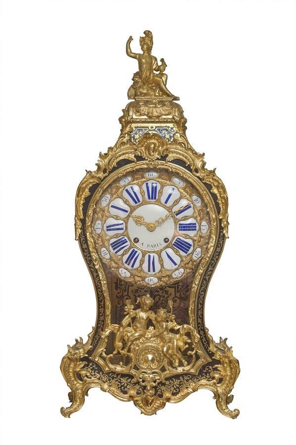 Antike französische Borduhr, getrennt stockbild