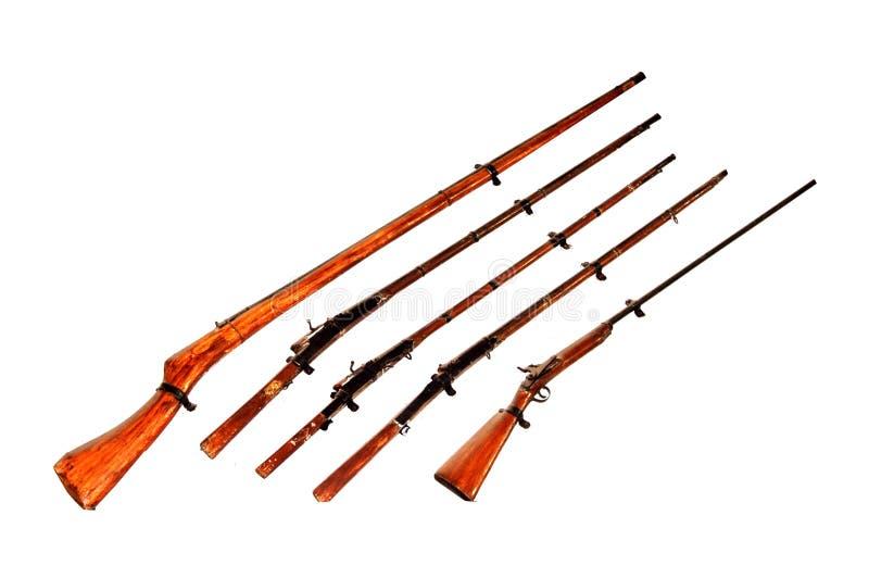 Antike Gewehren stockfotos