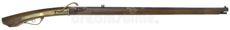 Antike Gewehrgewehre auf einem weißen Hintergrund lizenzfreies stockfoto
