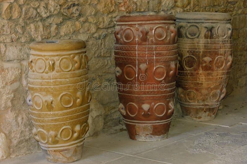 Antike Gläser bei Knossos lizenzfreies stockbild