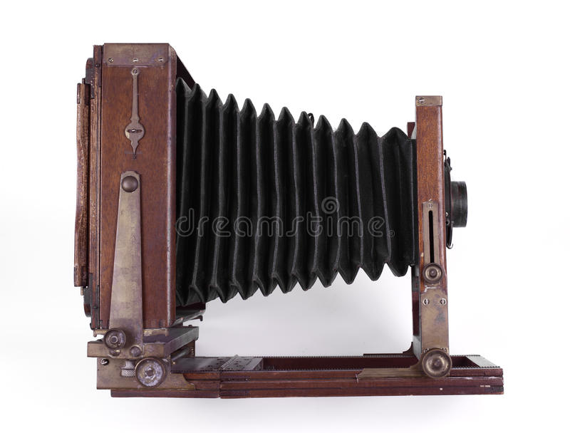Antike hölzerne Kamera stockfoto