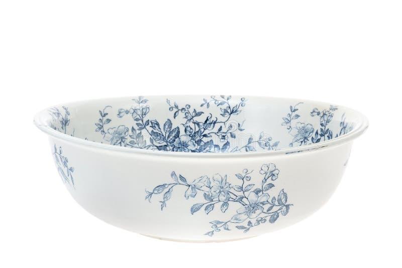 Antike handgemaltes washbowl getrennt lizenzfreie stockfotografie