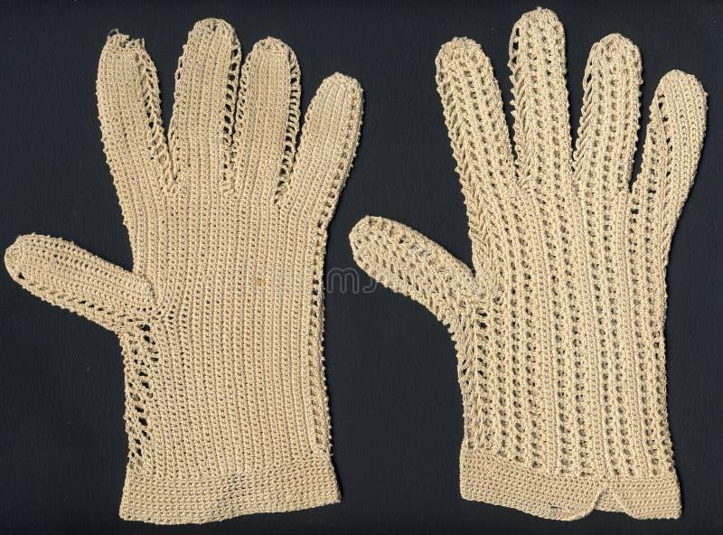 antike Handschuhe 1800's lizenzfreies stockfoto