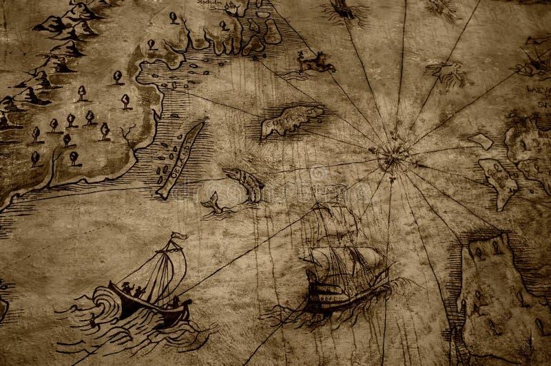 Antike Karte stock abbildung