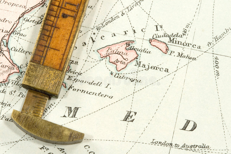 Antike Karte lizenzfreie stockfotografie