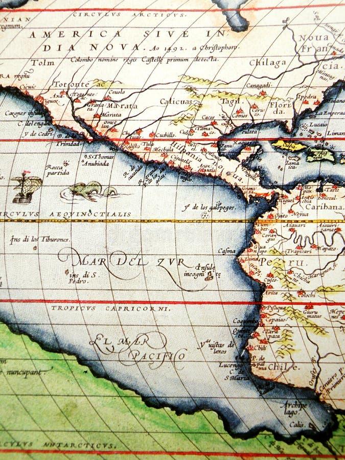 Antike Karte von Amerika lizenzfreie stockfotografie