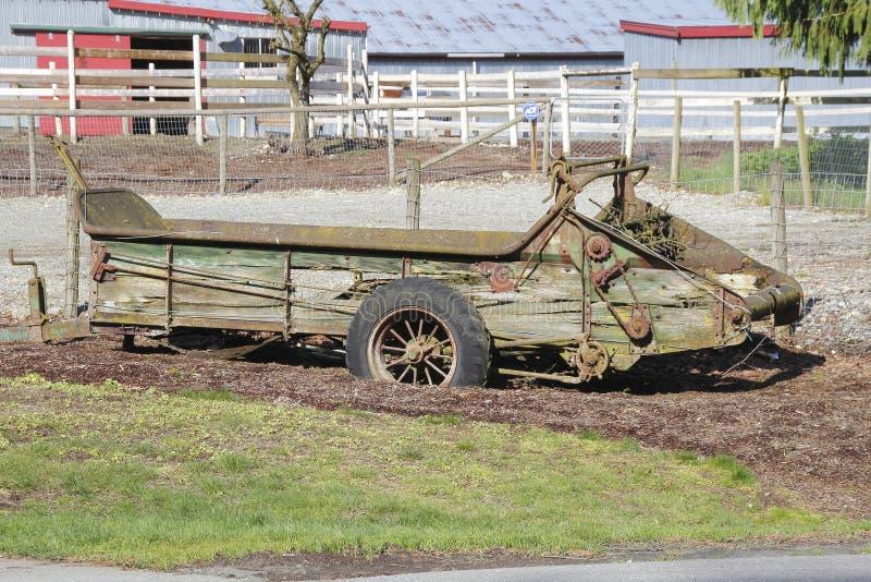 Antike landwirtschaftliche Maschinen stockfoto